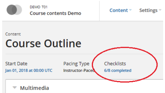 Open edX Course launch & Best practices Checklist features